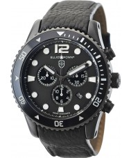 Elliot Brown 929-001-L01 Mens Bloxworth schwarzes Lederarmband Chronograph