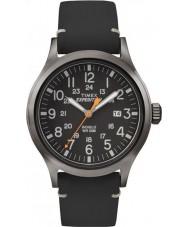 Timex TW4B01900 Mens Expedition analoge erhöht schwarzes Lederband Uhr