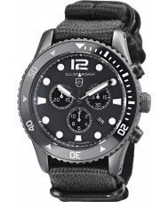 Elliot Brown 929-001-N02 Mens Bloxworth schwarzen Stoffband Chronograph