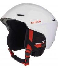Bolle 30644 Scharfer weicher weißer Skihelm - 58-61cm