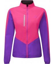 Ronhill RH-001473RH00179-12 Damen Vizion fluo pink lila windlite Jacke - Größe uk 12 (m)