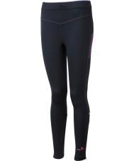 Ronhill RH-001901R292-16 Damen Vizion schwarz fluo rosa Stretchstrumpfhosen - Größe uk 16 (XL)