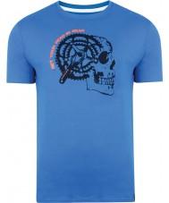 Dare2b DMT324-9PR40-XS Mens gearhead Skydiver blaues T-Shirt - Größe XS