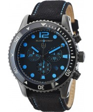 Elliot Brown 929-006-C02 Mens Bloxworth schwarzen Stoffband Chronograph