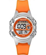 Timex TW5K96800 Damen Marathon mittelgroße Orange Harz Chronograph Bügeluhr