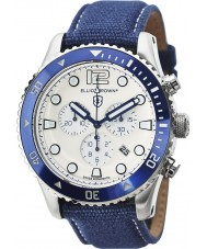 Elliot Brown 929-008-C01 Mens Bloxworth blauen Stoffband Chronograph