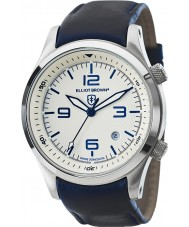 Elliot Brown 202-001-L06 Mens Canford blauen Lederband Uhr