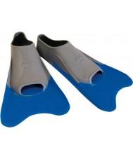 Zoggs 300395 Ultra-blau und grau Trainingsflossen - uk Größe 12