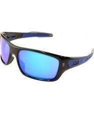 Oakley Oo9263-05 Turbine schwarze Tinte - Saphir Iridium Sonnenbrille