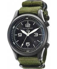 Elliot Brown 202-004-N01 Mens Canford grünen Stoff Bügeluhr