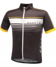 Dare2b DMT133-80040-XS Mens mettle schwarzes Jersey-T-Shirt - Größe XS