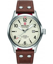Swiss Military 6-4280-04-002-05 Mens Undercover-braunes Lederarmband Uhr