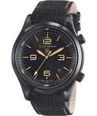Elliot Brown 202-008-L11 Mens Canford schwarzes Lederband Uhr
