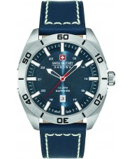 Swiss Military 6-4282-04-003 Herren-Champion blau Lederband Uhr