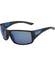 Bolle Tigerottern glänzend schwarz matt blau polarisiert Offshore-blaue Sonnenbrille