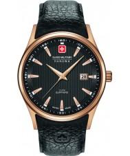 Swiss Military 6-4286-09-007 Mens Navalus schwarzes Lederband Uhr