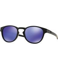 Oakley Oo9265-06 Riegel matt schwarz - violett Iridium Sonnenbrille