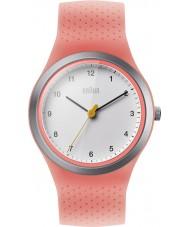 Braun BN0111WHPKL Damen Sport Neon Pfirsich Silikonband Uhr