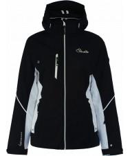Dare2b DWP334-80010L Damen geätzten Linien schwarze Jacke - Größe 10 (e)