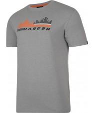 Dare2b DMT145-81I90-XXL Mens Stadtszene aschgrau Mergel T-Shirt - Größe XXL