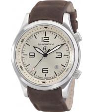 Elliot Brown 202-003-L08 Mens Canford schokoladenbraunen Lederband Uhr