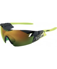 Bolle 6. Sinn matt Rauch, grün, braun Smaragd Sonnenbrille