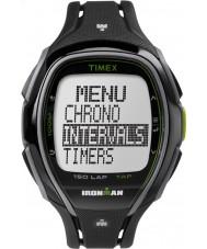 Timex TW5K96400 Ironman 150 Lap in voller Größe glatten schwarzen Harzband Chronograph